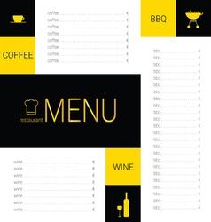 menu restaurant color vector image vector image