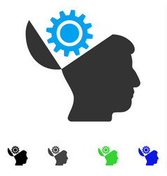 Open head gear flat icon vector