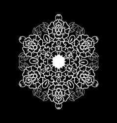 Oriental black and white mandala vector image