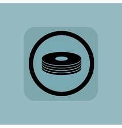 Pale blue disc pile sign vector image vector image