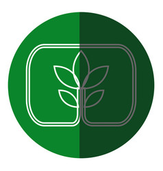 Plant leaves natural environment symbol green icon vector