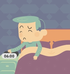 Sad Boy Getting Up vector image vector image