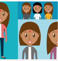 Set avatars women of different diversity vector