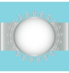 Silver frame vector image vector image