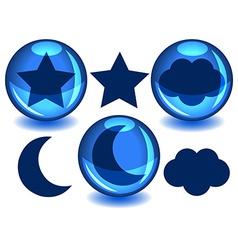 Sky spheres vector