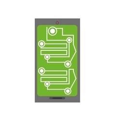 Smartphone circuit electronic board vector