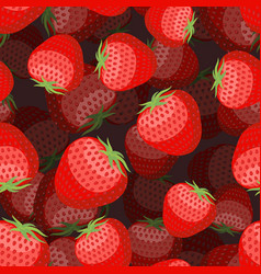 strawberry pattern 3d red berry texture sweet vector image vector image