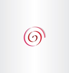 stylized red spiral ribbon sign vector image vector image