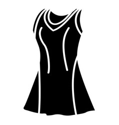 tennis female form icon simple black style vector image