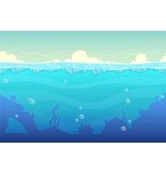 Underwater seamless landscape vector image
