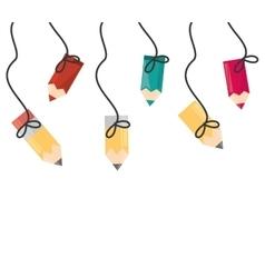 wallpaper colored hanging ribbon vector image