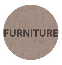 Brown poster furniture vector