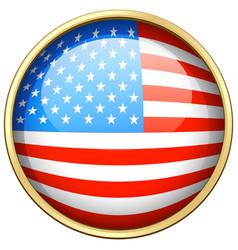 America flag design on round badge vector