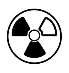 Contour radiation symbol to dangerous and ecology vector