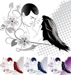 kissing vector image