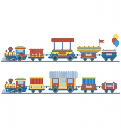 Train for kids design vector