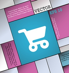 Shopping basket icon sign modern flat style for vector