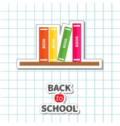 Bookshelf back to school exercise book vector