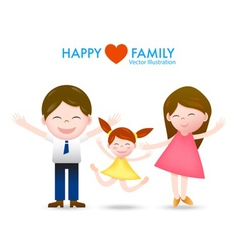Happy family with smile and joyful vector