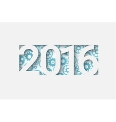 Happy new 2016 year vector