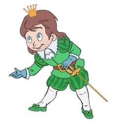 Charming prince boy vector image