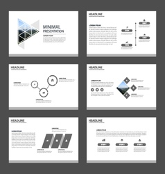 Minimal presentation templates infographic set vector
