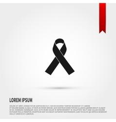 Aids awareness ribbon icon ribbon aids icon vector
