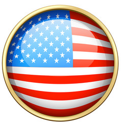America flag design on round badge vector