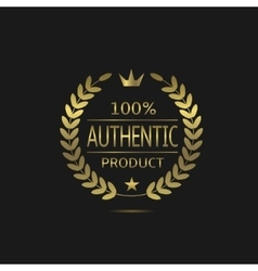 Authentic product label vector image