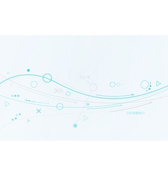 blue lines circles and different symbols vector image vector image
