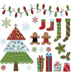 Christmas Design Elements Collection vector image vector image