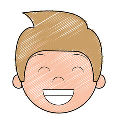 Cute and little boy character vector
