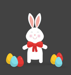 cute easter bunny isolated vector image vector image