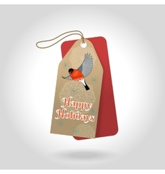 cute Happy Holidays Christmas gift tags vector image