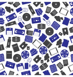 data storage media color pattern eps10 vector image vector image