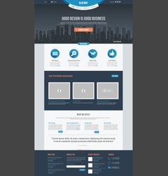 Flat Website Template vector image