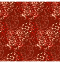 Floral Mechanism Seamless Royalty Free Vector Image