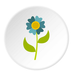 Flower icon circle vector