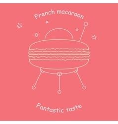 Funny logo with the classic French macaroon vector image vector image