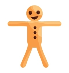 Gingerbread man cookie icon cartoon style vector image