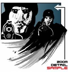 gunman design vector image vector image