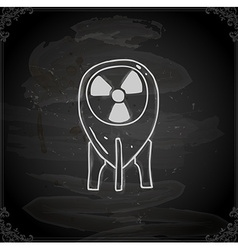 Hand drawn nuclear energy power symbol vector