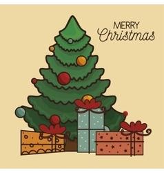 Happy merry christmas icon vector