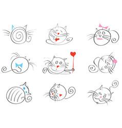 march cats happy vector image