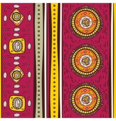 Pattern with ethnic motifs vector
