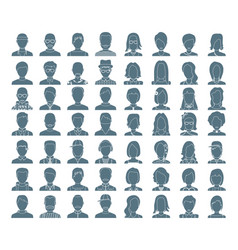 People silhouettes icon avatar vector