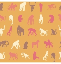 Seamless pattern background with monkeys vector image vector image