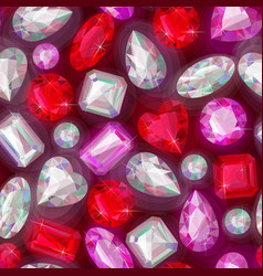 seamless sparkling gems vector image vector image
