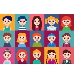 Set of cartoon avatars vector image