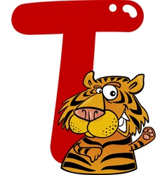 T for tiger vector image vector image